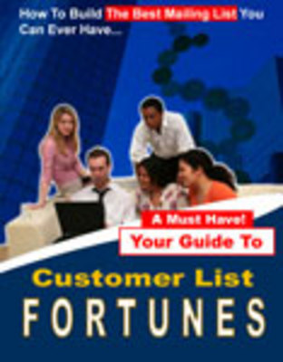 Product picture Customer list fortunes,make more money with more customers